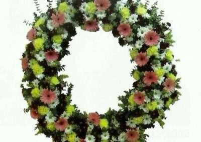 corona variada coronas ramos centros funerales entierros floristeria trebole pola de laviana asturias
