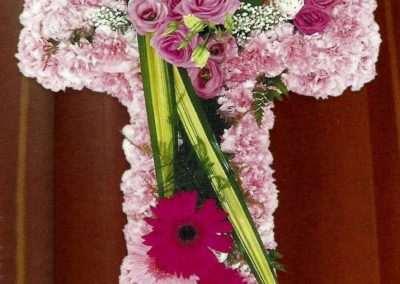 cruz funeraria coronas ramos centros funerales entierros floristeria trebole pola de laviana asturias