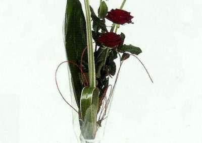rosas rojas en trebole floristeria en pola de lavian ( asturias)