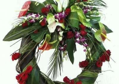 coronas ramos y centros de funeral en trebole floristeria en pola de laviana en la cuenca del nalon en asturias