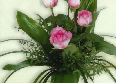 ramos de rosas aqua en trebole floristeria en pola de laviana( asturias)