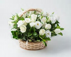 cesta de flores para regalo en floristeria trebole en pola de laviana en la cuenca del nalon en asturias