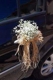 adornos de flores para manillas de coches ,coches nupciales,floristeria trebole pola de laviana -asturias
