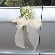 adornos de flores para manillas de coche,coches nupciales,en floristeria trebole en pola de laviana en la cuenca del nalon en asturias