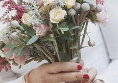 ramos de novia silvestres en floristeria trebole en pola de laviana en al cuenca del nalon en asturias