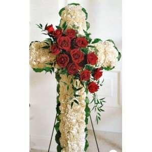 cruces de flores para funeral en floristeria trebole en pola de laviana en al cuenca del nalon en asturias