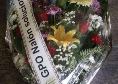 ramos de funeral,en floristeria trebole en pola de laviana en la cuenca del nalon en asturias